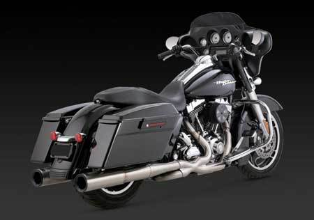 VANCE & HINES STAINLESS HI-OUTPUT DUALS FOR HD TOURING 09-UP