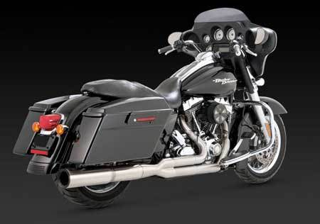 VANCE & HINES STAINLESS HI-OUTPUT 2-INTO-1 FOR HD TOURING 09-UP