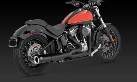 VANCE & HINES PRO PIPE BLACK FOR HD SOFTAIL 12-UP