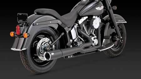VANCE & HINES PRO PIPE BLACK FOR HD SOFTAIL 86-11