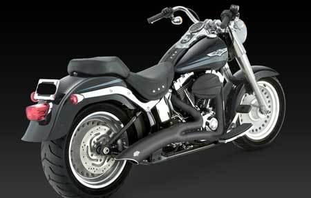 VANCE & HINES BIG RADIUS 2-INTO-1 BLACK FOR HD SOFTAIL 12-UP
