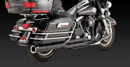 VANCE & HINES PRO PIPE BLACK FOR HD TOURING 99-08