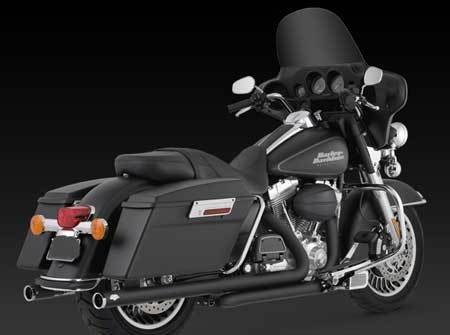 VANCE & HINES BIG SHOT DUALS, BLACK, FOR HD TOURING 09