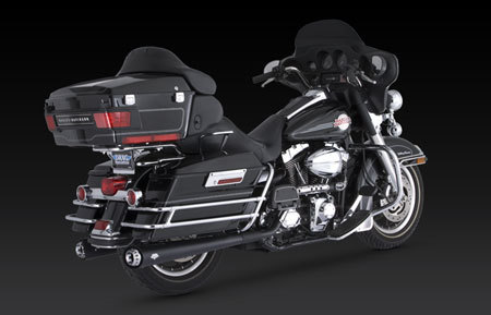 VANCE & HINES RSD TRACKER, BLACK, FOR HD TOURING 95-UP