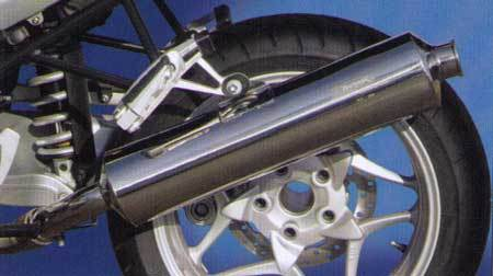 STAINLESS STEEL EUROSPORT SLIP-ON CANISTER FOR  R 1200 R/RT/ST