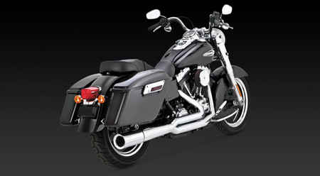 VANCE & HINES SWITCHBACK PRO PIPE CHROME FOR HD DYNA 12-UP