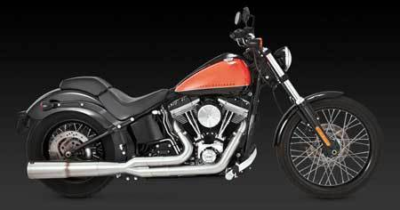 VANCE & HINES STAINLESS HI-OUTPUT 2-INTO-1 FOR HD SOFTAIL 86-UP