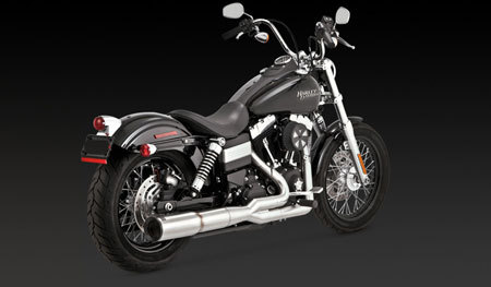VANCE & HINES STAINLESS HI-OUTPUT 2-INTO-1 FOR HD DYNA 06-UP