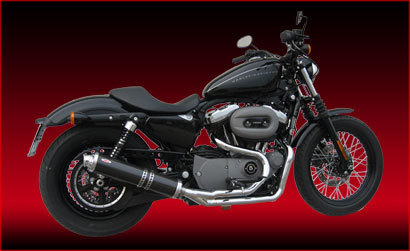 MCJ RACING 2-1 SYSTEM IN CARBON FOR HD SPORTSTER XL883/1200 TILL '03