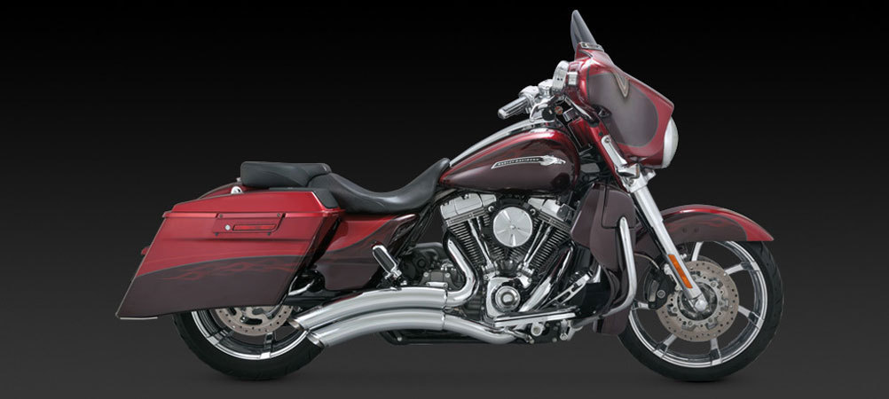 VANCE & HINES SUPER RADIUS CHROME FOR HARLEY TOURING '07-'14