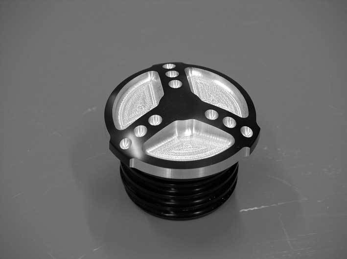 "Gas Cap ""RACE LUX"" black Sportster"
