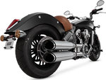 VANCE & HINES TWIN SLASH ROUND SLIP-ONS INDIAN SCOUT '15- UP