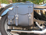 REAL LEATHER SADDLEBAG PLAIN SPORTSTER RIGHT SIDE  2004-UP MODELS