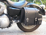 REAL LEATHER SADDLEBAG PLAIN SPORTSTER LEFT SIDE  2004-UP MODELS