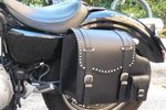 REAL LEATHER SADDLEBAG STUDDED SPORTSTER LEFT SIDE 2004-UP MODELS