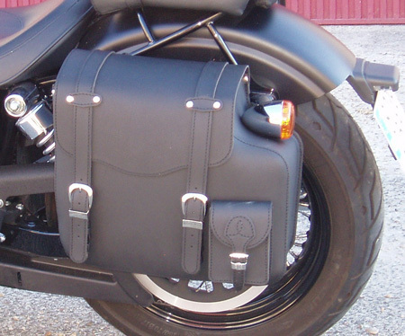 REAL LEATHER SADDLEBAG PLAIN LEFT SIDE FOR DYNA MODELS